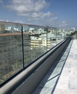 building terrace glass railings
