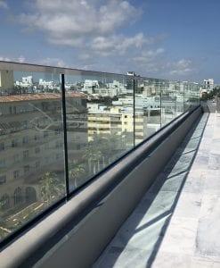 building terrace glass railings