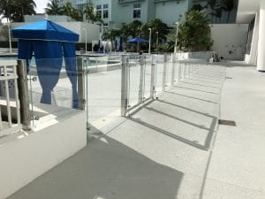 commercial glass pool fence 26