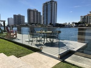 commercial patio glass railing