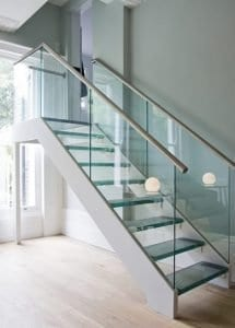 stairs glass railings