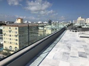 terrace glass railings