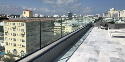 terrace glass railings